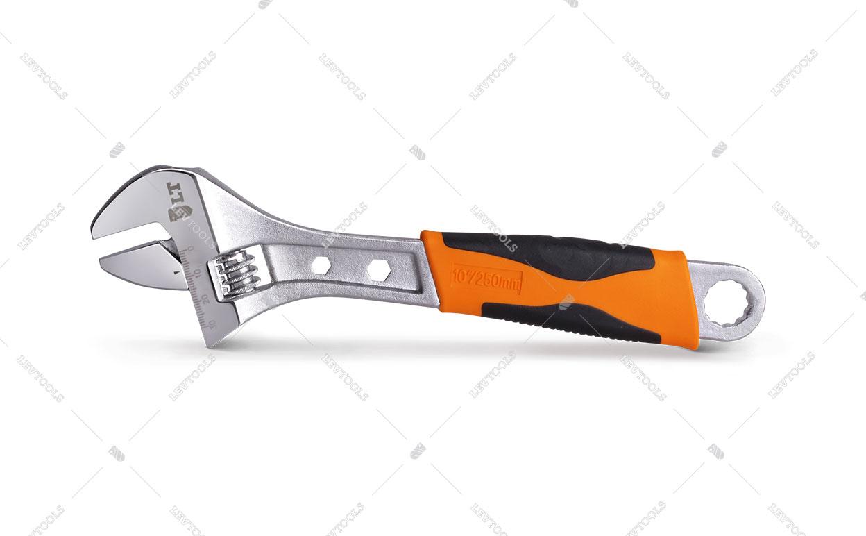 Разводной ключ с двухкомпонентной TPR рукояткой