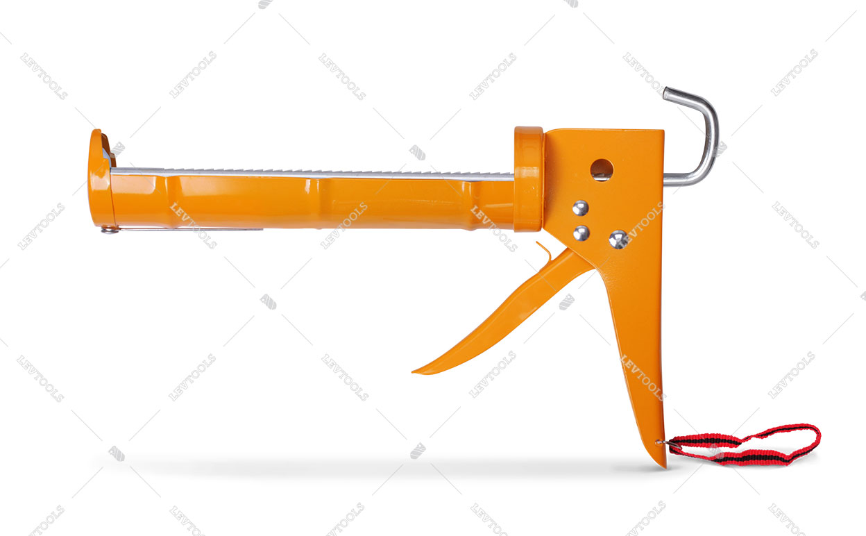 Пистолет полукорпусной для герметика с трещоткой
