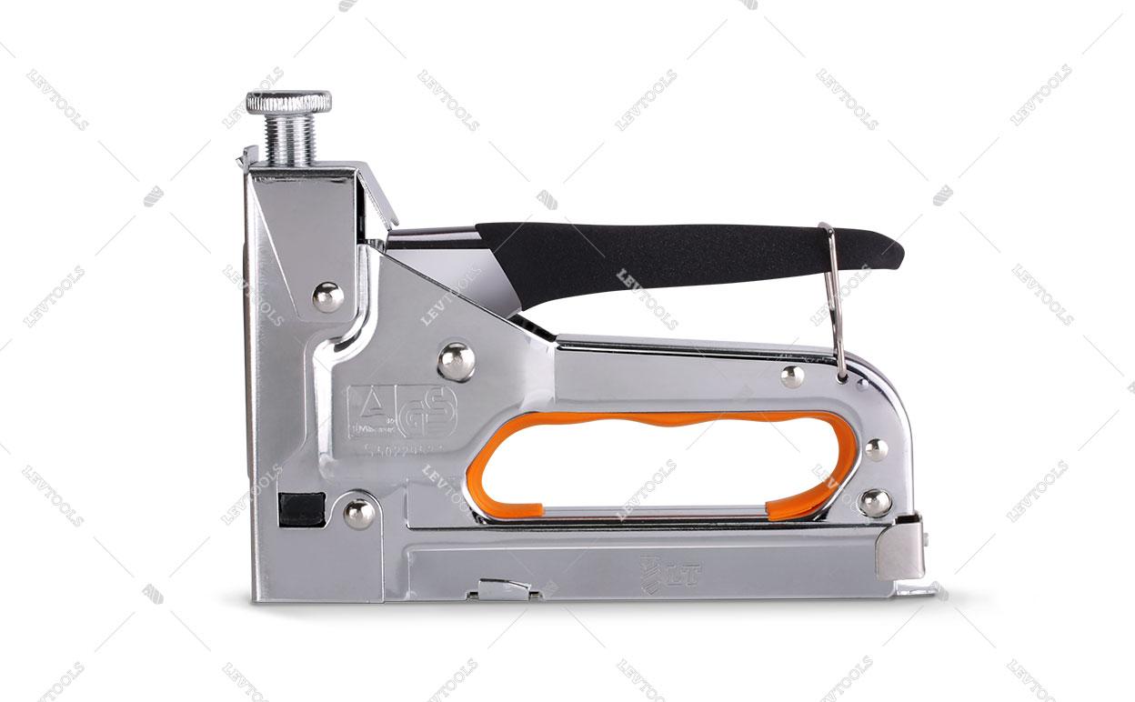 Степлер с усиленным ударным механизмом для прямоугольных скоб 4-14 мм, профессиональный
